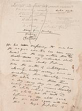 WASHINGTON, BOOKER T. Notes for a Speech given before the Birmingham Lyceum, March 30, 1899.