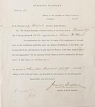 (MILITARY--CIVIL WAR.) Auditor's Warrant . . . For compensation for a slave lost, by reason of the employment of said slave by the Conf