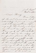 (MILITARY--CIVIL WAR.) Union soldier's letter to his cousin.