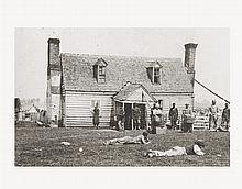 (MILITARY--CIVIL WAR.) BRADY, MATHEW, ET AL. Group of 33 11 x 14 prints from photographs of scenes from the Civil War.
