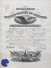 (MILITARY--SPANISH AMERICAN WAR.) McKINLEY, WILLIAM. Four partially printed promotions, accomplished by hand for Samuel Louis Franklin
