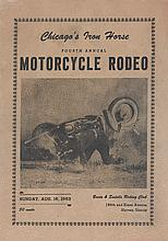(SPORTS.) MOTORCYCLES. Chicago's Iron Horse Fourth Annual Motorcycle Rodeo.