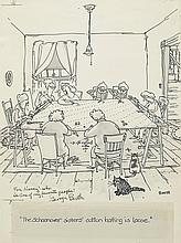 GEORGE BOOTH. Group of 4 Drawings.