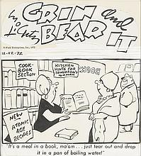 COMICS. Group of 22 food-related cartoons from the collection of food writer Jeanne Jones.