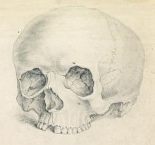 BENJAMIN WEST Study of a Scull (Memento Mori).