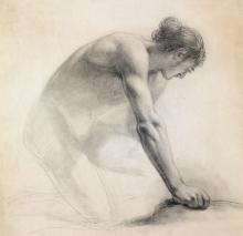 BENJAMIN WEST Kneeling Figure.