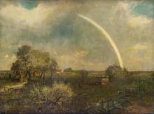 CHARLES HENRY MILLER Landscape with a Rainbow.