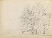 DAVID JOHNSON Group of 10 landscape pencil drawings.