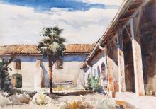 CARL OSCAR BORG Mission at Santa Yñez, California.