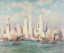 GUY C. WIGGINS New York Skyline.
