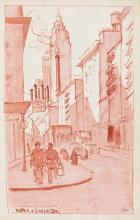 HENRY J. GLINTENKAMP Group of approximately 25 watercolor and pen and ink studies.