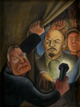 MIGUEL COVARRUBIAS Rockefeller Discovering the Rivera Murals.