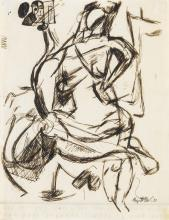 GEORGE McNEIL Study of a Seated Nude