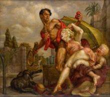 PAUL CADMUS Venus and Adonis.