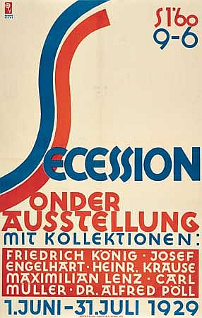 POSTER: ROBERT HAAS (1898- 1997). SECESSION.