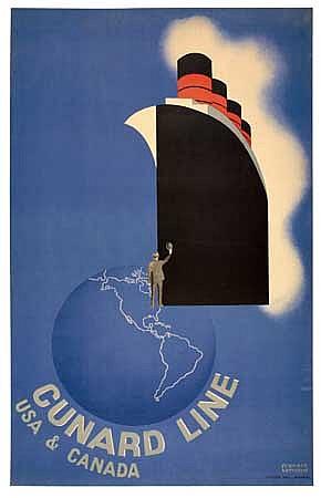 POSTER: FRANCIS BERNARD (1900-1979). CUNARD L