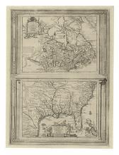AA, PIETER van der. Canada ou Nouvelle France [on sheet with] La Floride.