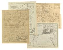 (AMERICAN REVOLUTION.) A group of four engraved folding maps from the 1770s and '80s,