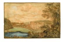 (BETHLEHEM, PA.) Sandby, Paul (after). [View of the Moravian Settlement.]