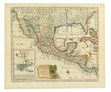 BOWEN, EMANUEL. A New & Accurate Map of Mexico or New Spain together with California, New Mexico &c.