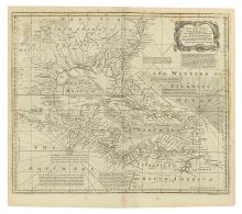 BOWEN, EMANUEL. A New and Accurate Chart of the West Indies with the Adjacent Coasts of North and South America.