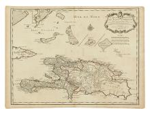 DELISLE, GUILLAUME. Carte de l'Isle de Saint Domingue Dressee en 1722 pour l'usage du Roy. . . 1725.