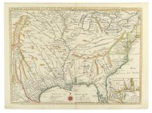 DELISLE, GUILLAUME. Carte de la Louisiane et du Cours du Mississipi Dressee sur un Grand Nombre de Memoires
