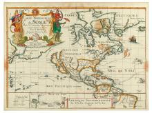 DUVAL, PIERRE. Amerique Septemtrionale Par P. Du-Val Geographe Ordre. du Roy.