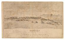 (HAWAII--LAHAINALUNA.) Bailey, E[dward], (artist); Kalama, [Samuel P.], (engraver.) Honolulu as seen from the foot of Puawaina,