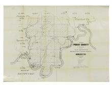 (INDIANA.) Braden & Buford. Map of Perry County Indiana * Map of Parke County Indiana.