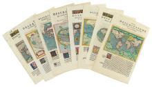 MAGINI, GIOVANNI ANTONIO. Eight map sheets from Geographiae Universae tum Veteris tum Novae Absolutissimum.