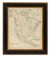 (MANUSCRIPT MAP.) North America.