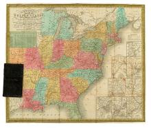 MITCHELL, SAMUEL AUGUSTUS. Mitchell's Map of the United States Showing the Principal Travelling, Turnpike and Common Roads.
