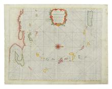 MOUNT, WILLIAM; and PAGE, THOMAS. A Correct Chart of the Caribbee Islands. . .