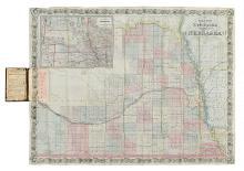 (NEBRASKA.) Colton, G.W.; Colton, C.B. New Sectional Map of Nebraska and Part of Dakota.