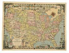 (PICTORIAL MAPS.) Chase, Ernest Dudley. The Good Neighbor. South America. * America the Wonderland.