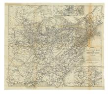 (RAILROAD MAP.) D. Appleton & Co. Publishers. Appleton's Railway Map of the United States and Canada.