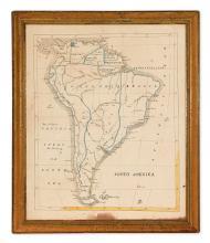 (SCHOOL MANUSCRIPT MAP.) [Anonymous.] South America.