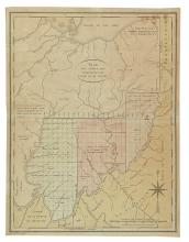TARDIEU, P. F. Plan des Achats des Compagnies de l'Ohio et du Scioto.