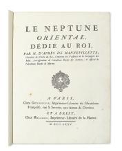 D'APRES DE MANNEVILLETTE, JEAN-BAPTISTE NICOLAS DENIS. Le Neptune Oriental, dédié au Roi. [with] Supplement.