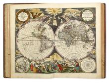 MAPS & ATLASES, NATURAL HIST & COLOR PLATE BOOKS