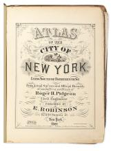 (NEW YORK CITY.) Robinson, E. Atlas of New York City Lying South of Fourteenth St. Volume IV. 1881.