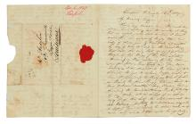 AUDUBON, JOHN JAMES. Autograph Letter, Signed, to his wife Lucy Bakewell Audubon,