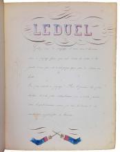 (CALLIGRAPHY.) Ascoli, Joseph. French schoolboy's manuscript workbook,