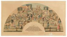 (UNMOUNTED FAN.) Bartholomew Fair, 1721.