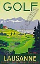 GOLF. 1936. 39x25 inches. Simplon, Lausanne.