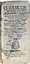 ALEXANDER THE GREAT.  Curtius Rufus, Quintus. De rebus gestis Alexandri Magni regis Macedonum, libri decem.  1715