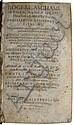 ASCHAM, ROGER. Familiarium epistolarum libri III.  1611