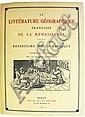ATKINSON, GEOFFROY. La Littérature Géographique Française de la Renaissance.  1927 + Supplément.  1936.  2 vols. in one.