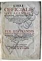 CATHOLIC LITURGY.  Libri officialis sive agendae S. Ecclesiae Treverensis pars prior.  1574